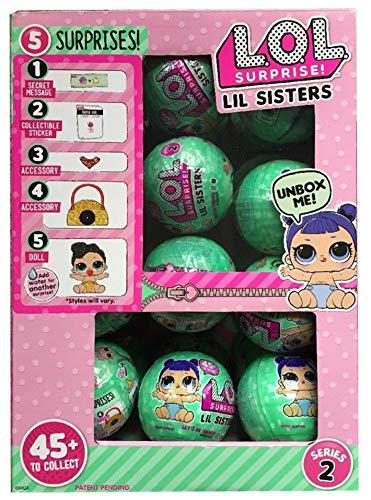 エルオーエルサプライズ 人形 ドール 【送料無料】LOL Surprise Lil Outrageous Littles Lil Sisters Series 2 WAVE 2 Lets Be Friends Mystery Pack - Multi-Pack of 24 with Display Caseエルオーエルサプライズ 人形 ドール