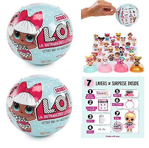 エルオーエルサプライズ 人形 ドール 【送料無料】Set of 2: L.O.L Little Outrageous Littles Surprise! Dolls - You Get Seven Layers of Fun with Every L.O.L. Surprise Doll!エルオーエルサプライズ 人形 ドール