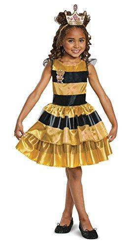 エルオーエルサプライズ 人形 ドール L.O.L. Surprise! Queen Bee Classic Child Costume, 黄, Medium/(7-8)エルオーエルサプライズ 人形 ドール
