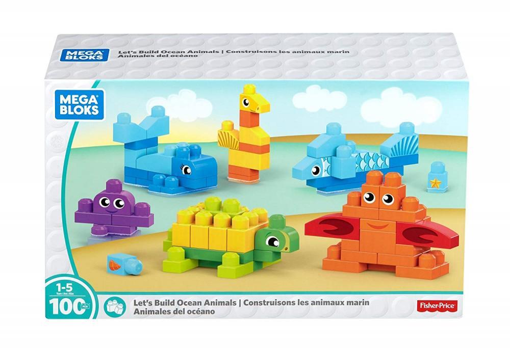 メガブロック メガコンストラックス 組み立て 知育玩具 Mega Bloks Let's Build Ocean Animals Building Blocks Building Kitメガブロック メガコンストラックス 組み立て 知育玩具