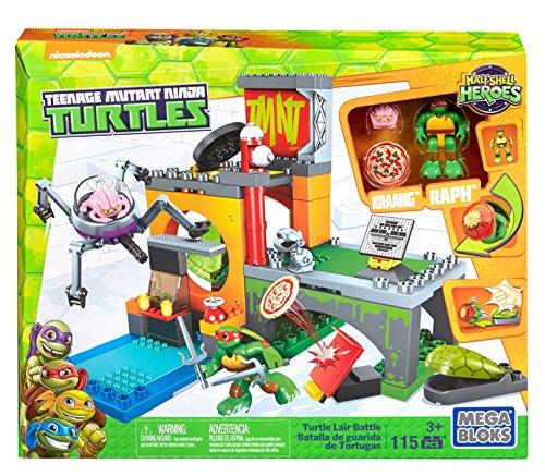 メガブロック メガコンストラックス 組み立て 知育玩具 【送料無料】Mega Bloks Teenage Mutant Ninja Turtles Half-Shell Heroes Turtle Lair Battleメガブロック メガコンストラックス 組み立て 知育玩具