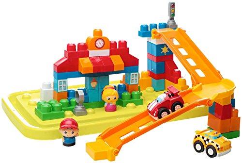 メガブロック メガコンストラックス 組み立て 知育玩具 【送料無料】Mega Bloks First Builders Fast Tracks City Center Set Building Kitメガブロック メガコンストラックス 組み立て 知育玩具