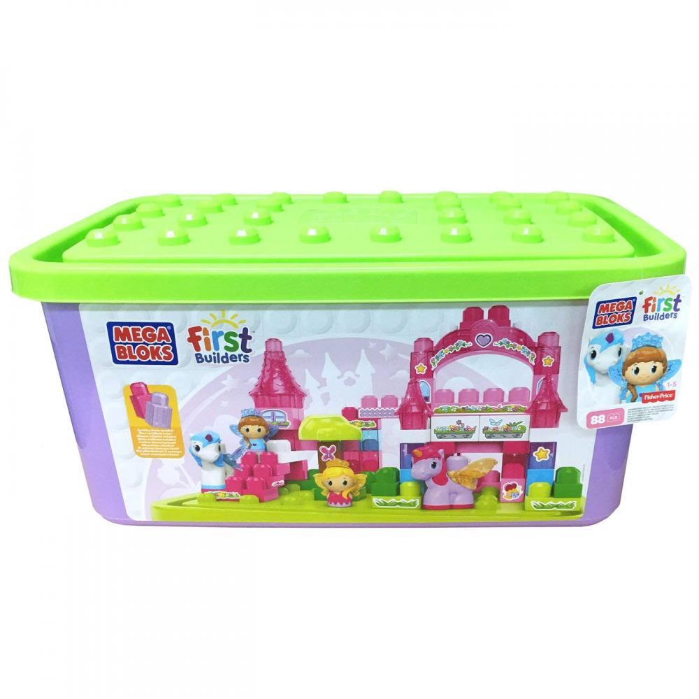 メガブロック メガコンストラックス 組み立て 知育玩具 Mega Bloks DBL85 First Builders Lil' Princess Shimmering Palace Tub Building Kitメガブロック メガコンストラックス 組み立て 知育玩具