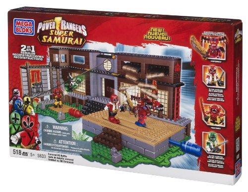 メガブロック メガコンストラックス 組み立て 知育玩具 Mega Bloks Power Rangers Samurai HQ Battleメガブロック メガコンストラックス 組み立て 知育玩具