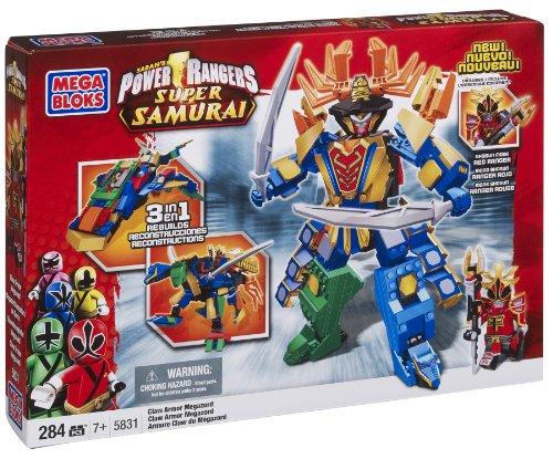 メガブロック メガコンストラックス 組み立て 知育玩具 Mega Bloks Power Rangers Samurai Claw Armor Megazordメガブロック メガコンストラックス 組み立て 知育玩具