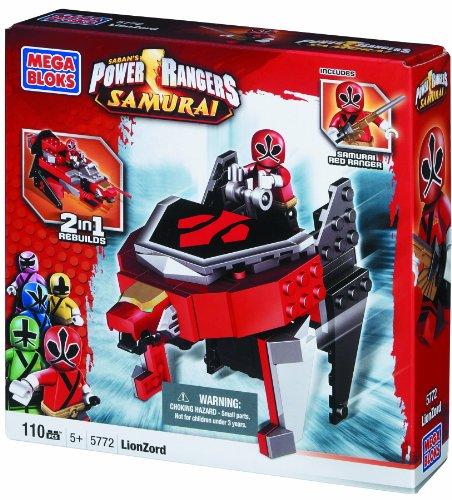 メガブロック メガコンストラックス 組み立て 知育玩具 Mega Bloks Power Rangers Samurai 2 in 1 Vehicle LionZord with Samurai Red Ranger #5772メガブロック メガコンストラックス 組み立て 知育玩具