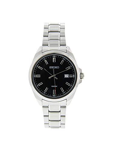 腕時計 セイコー メンズ 【送料無料】Seiko SUR277 Silver Stainless-Steel Japanese Quartz Dress Watch腕時計 セイコー メンズ