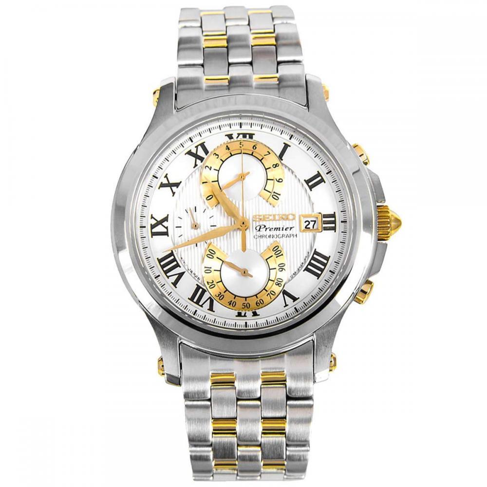 セイコー 腕時計 メンズ SeikoMens Analog Silver Business Quartz Seiko Premier Chronograph SPC068P1セイコー 腕時計 メンズ