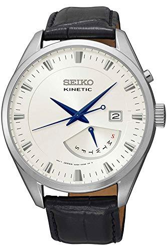 セイコー 腕時計 メンズ Seiko Kinetic Watch SRN071P1 - Leather Gents Kinetic Analogueセイコー 腕時計 メンズ