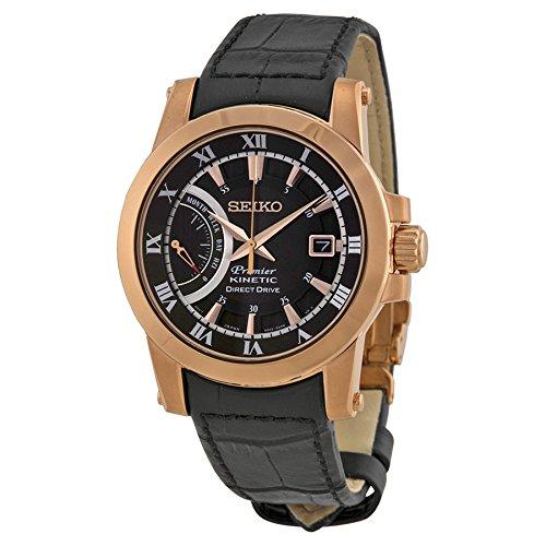 セイコー 腕時計 メンズ Seiko Premier Kinetic Direct Drive SeikoMens Analog Brown Casual Kinetic SRG016P1セイコー 腕時計 メンズ