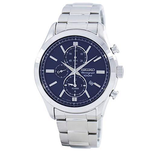 セイコー 腕時計 メンズ 【送料無料】Seiko Alarm Chronograph Watch SNAF65P1 - Stainless Steel Gents Quartz Chronographセイコー 腕時計 メンズ