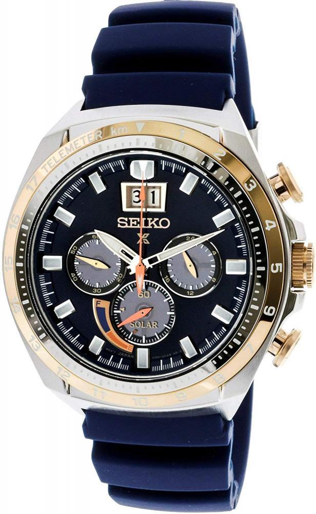 セイコー 腕時計 メンズ Seiko Men's SSC666 Silver Silicone Japanese Quartz Diving Watchセイコー 腕時計 メンズ