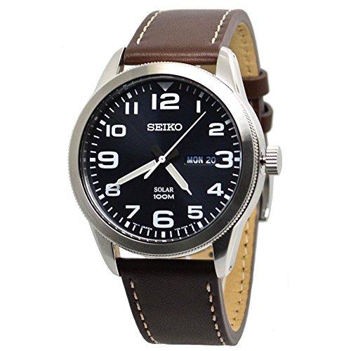 セイコー 腕時計 メンズ 【送料無料】Seiko Mens Analogue Solar Powered Watch with Leather Strap SNE475P1セイコー 腕時計 メンズ