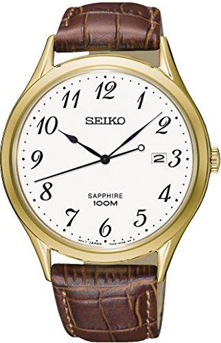 セイコー 腕時計 メンズ 【送料無料】Seiko Mens Analogue Quartz Watch with Leather Strap SGEH78P1セイコー 腕時計 メンズ
