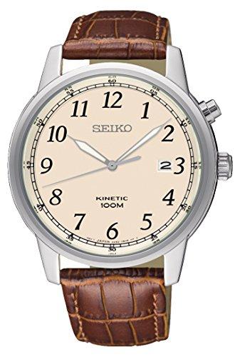 セイコー 腕時計 メンズ Seiko Kinetic Cream Dial Men's Watch SKA779セイコー 腕時計 メンズ