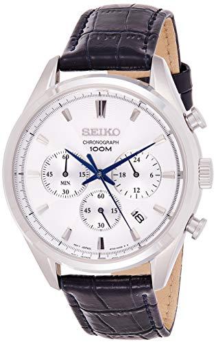 セイコー 腕時計 メンズ Seiko Chronograph Silver Dial Men's Watch SSB291P1セイコー 腕時計 メンズ