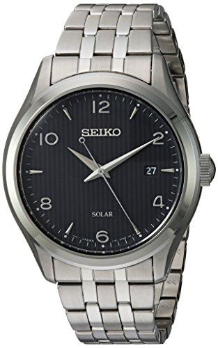 セイコー 腕時計 メンズ Seiko Mens Dress Japanese-Quartz Watch with Stainless-Steel Strap, Silver, 17.5 (Model: SNE489)セイコー 腕時計 メンズ