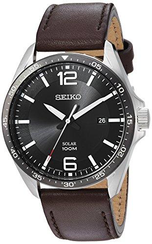 セイコー 腕時計 メンズ 【送料無料】Seiko Men's Sport Watches Stainless Steel Japanese-Quartz Leather Calfskin Strap, Brown, 22 (Model: SNE487)セイコー 腕時計 メンズ
