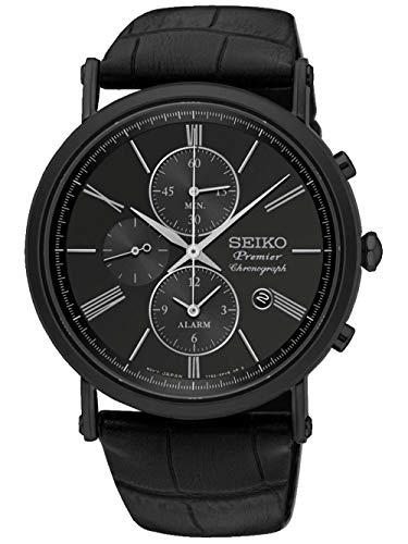 セイコー 腕時計 メンズ 【送料無料】Seiko Premier SNAF79P1 Mens Chronograph Flat & lightセイコー 腕時計 メンズ
