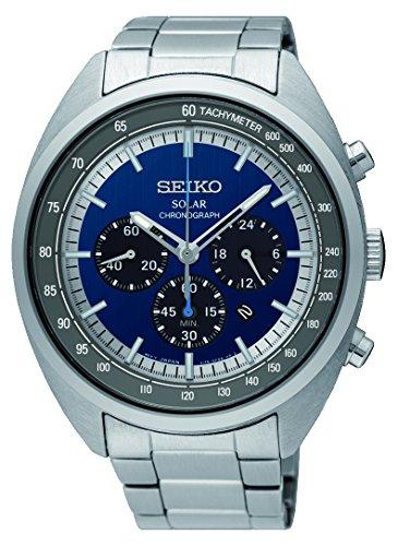 セイコー 腕時計 メンズ 【送料無料】Seiko Men's Chronograph Solar Powered Watch with Stainless Steel Strap SSC619P1セイコー 腕時計 メンズ