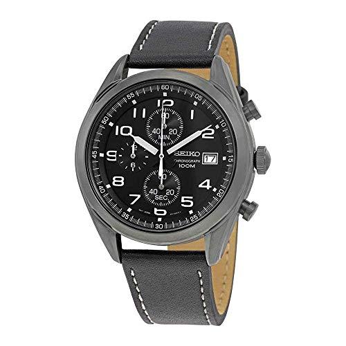 セイコー 腕時計 メンズ 【送料無料】Seiko Men's Chronograph Quartz Watch with Leather Strap SSB277P1セイコー 腕時計 メンズ
