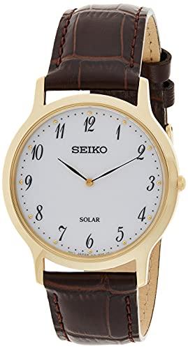セイコー 腕時計 メンズ 【送料無料】Seiko Men's Analogue Solar Powered Watch with Leather Strap SUP860P1セイコー 腕時計 メンズ