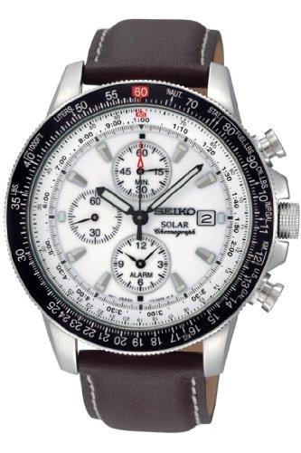 セイコー 腕時計 メンズ Seiko Men's Chronograph Dial Watch Whiteセイコー 腕時計 メンズ