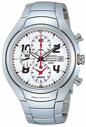 腕時計 セイコー メンズ 【送料無料】Seiko sportura Mens Analog Japanese Quartz Watch with Stainless Steel Bracelet SNA135腕時計 セイコー メンズ