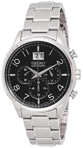 セイコー 腕時計 メンズ Seiko Men's Silver Black Chronograph Stainless Steel Analog Quartz Watch SPC153P1セイコー 腕時計 メンズ
