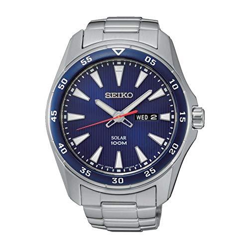 セイコー 腕時計 メンズ 【送料無料】Seiko Men's Solar Powered Watch with Stainless Steel Strap, Silver, 20 (Model: SNE391P1)セイコー 腕時計 メンズ