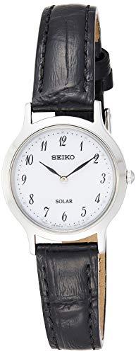セイコー 腕時計 レディース Seiko Women's Analogue Solar Powered Watch with Leather Strap SUP369P1セイコー 腕時計 レディース
