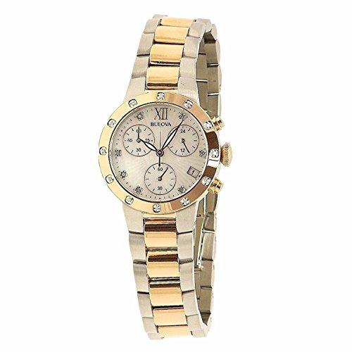 ブローバ 腕時計 レディース 98R210 【送料無料】Bulova Women's 98R210 Diamonds Analog Display Japanese Quartz Two Tone Watchブローバ 腕時計 レディース 98R210