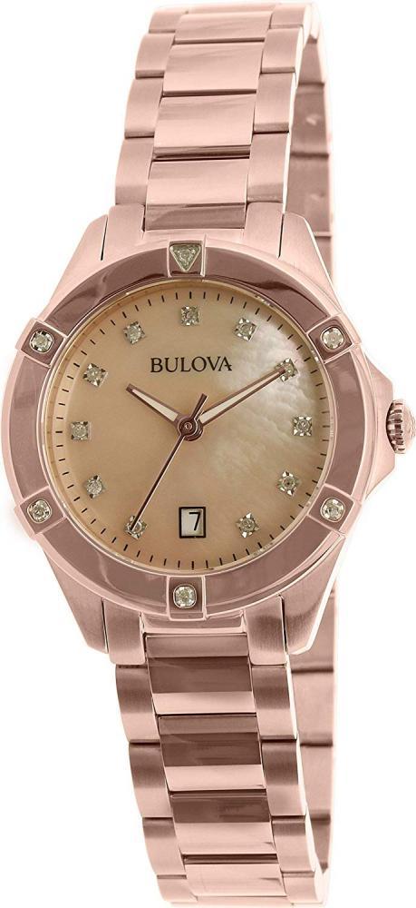 腕時計 ブローバ レディース 97W101 【送料無料】Bulova Women's 97W101 Rose Gold Stainless-Steel Quartz Watch腕時計 ブローバ レディース 97W101