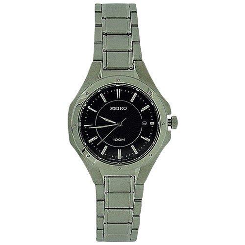セイコー 腕時計 レディース Seiko Ladies Date Black Dial Stainless Steel Bracelet Strap Watch SXDE13J1P1セイコー 腕時計 レディース