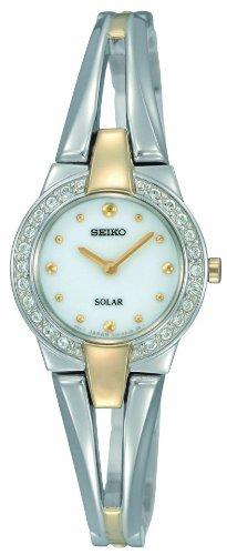 セイコー 腕時計 レディース 【送料無料】Seiko Women's SUP052 Two Tone Stainless Steel Analog with White Dial Watchセイコー 腕時計 レディース