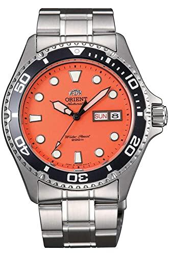 オリエント 腕時計 メンズ 【送料無料】Orient FAA02006M Men's Orange Mako II Stainless Steel 200M Automatic Dive Watchオリエント 腕時計 メンズ