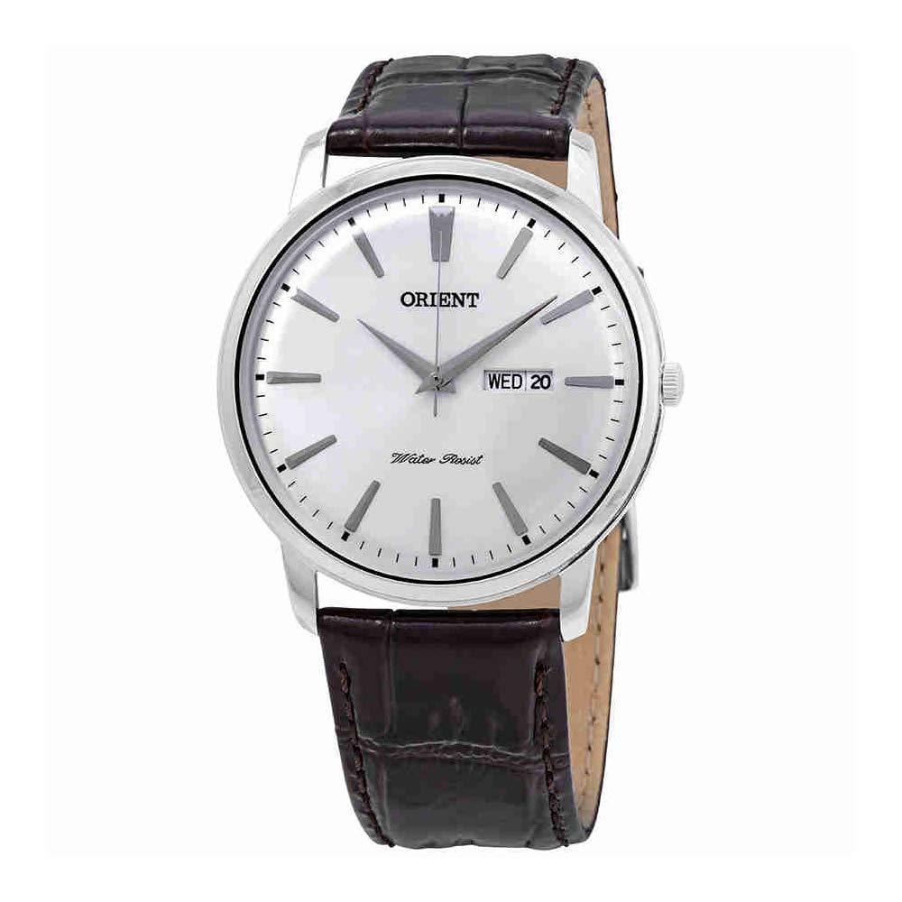 オリエント 腕時計 メンズ 【送料無料】Orient Capital Silver Dial Brown Leather Men's Watch FUG1R003W9オリエント 腕時計 メンズ