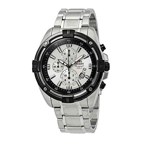 オリエント 腕時計 メンズ 【送料無料】Orient Endeavor Chronograph Silver Dial Men's Watch FTT0Y003W0オリエント 腕時計 メンズ