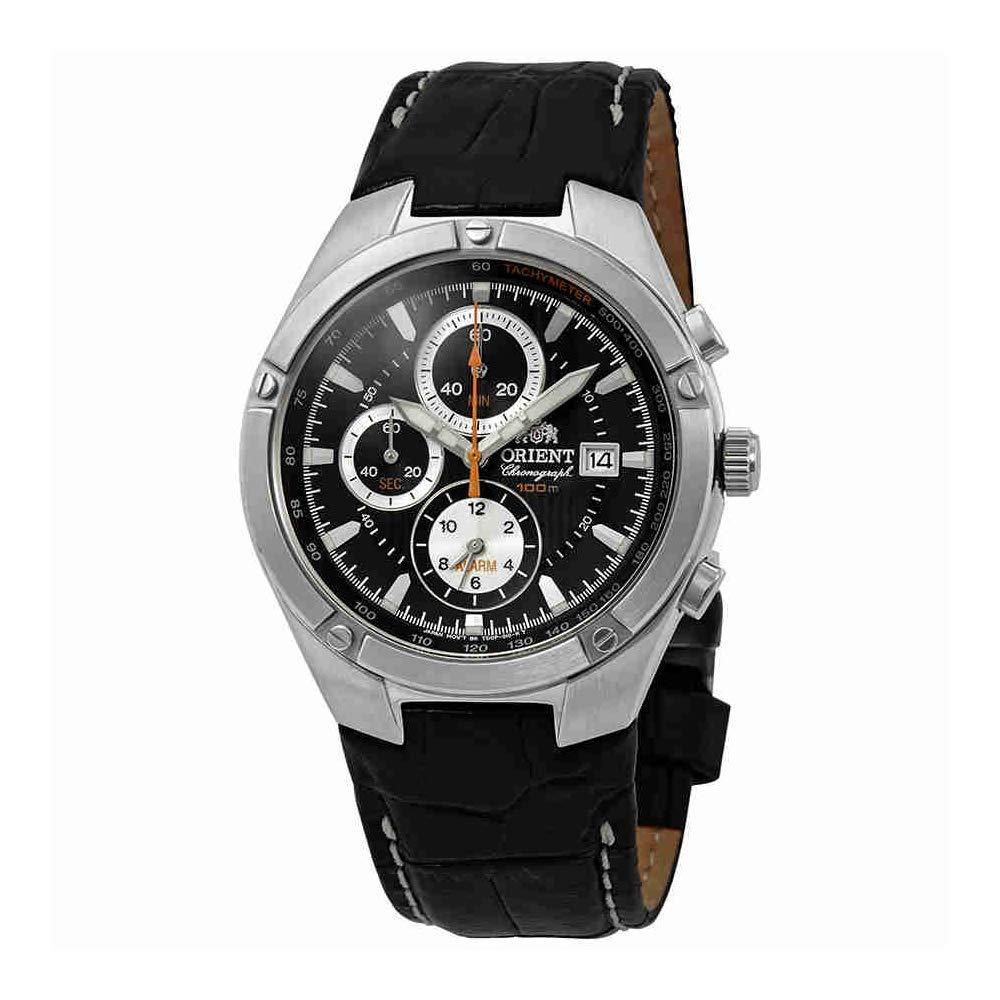 オリエント 腕時計 メンズ Orient Classic Alarm Chronograph Black Dial Mens Watch FTD0P002Bオリエント 腕時計 メンズ