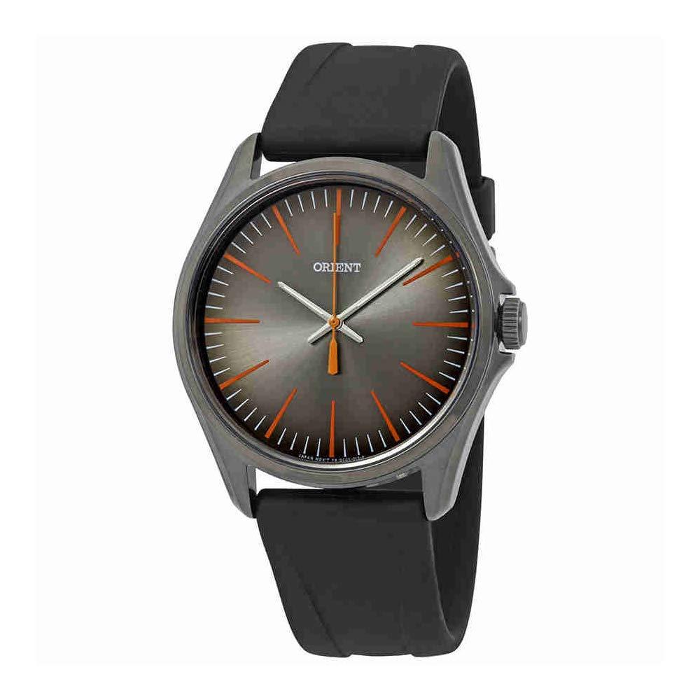 腕時計 オリエント メンズ 【送料無料】Orient Classic Black Dial Black Rubber Men's Watch FQC0S00BA腕時計 オリエント メンズ