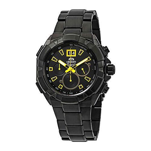 オリエント 腕時計 メンズ 【送料無料】Orient Enterprise Chronograph Black Dial Men's Watch FTV00007Bオリエント 腕時計 メンズ