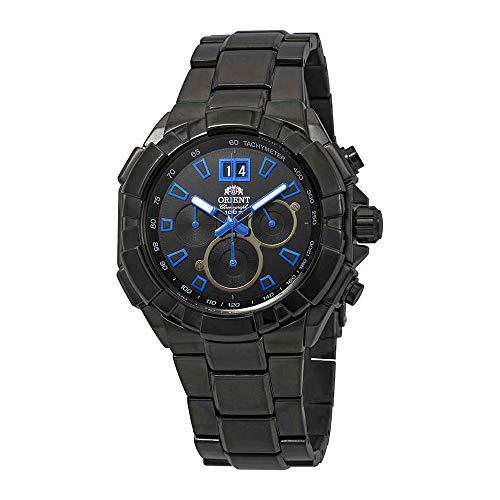 オリエント 腕時計 メンズ 【送料無料】Orient Enterprise Chronograph Black Dial Men's Watch FTV00005Bオリエント 腕時計 メンズ