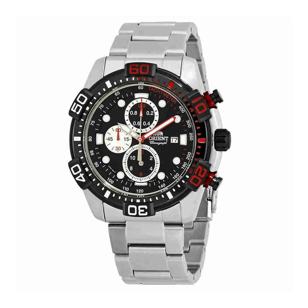オリエント 腕時計 メンズ Orient Sport Chronograph Black Dial Men's Watch FTT16002Bオリエント 腕時計 メンズ