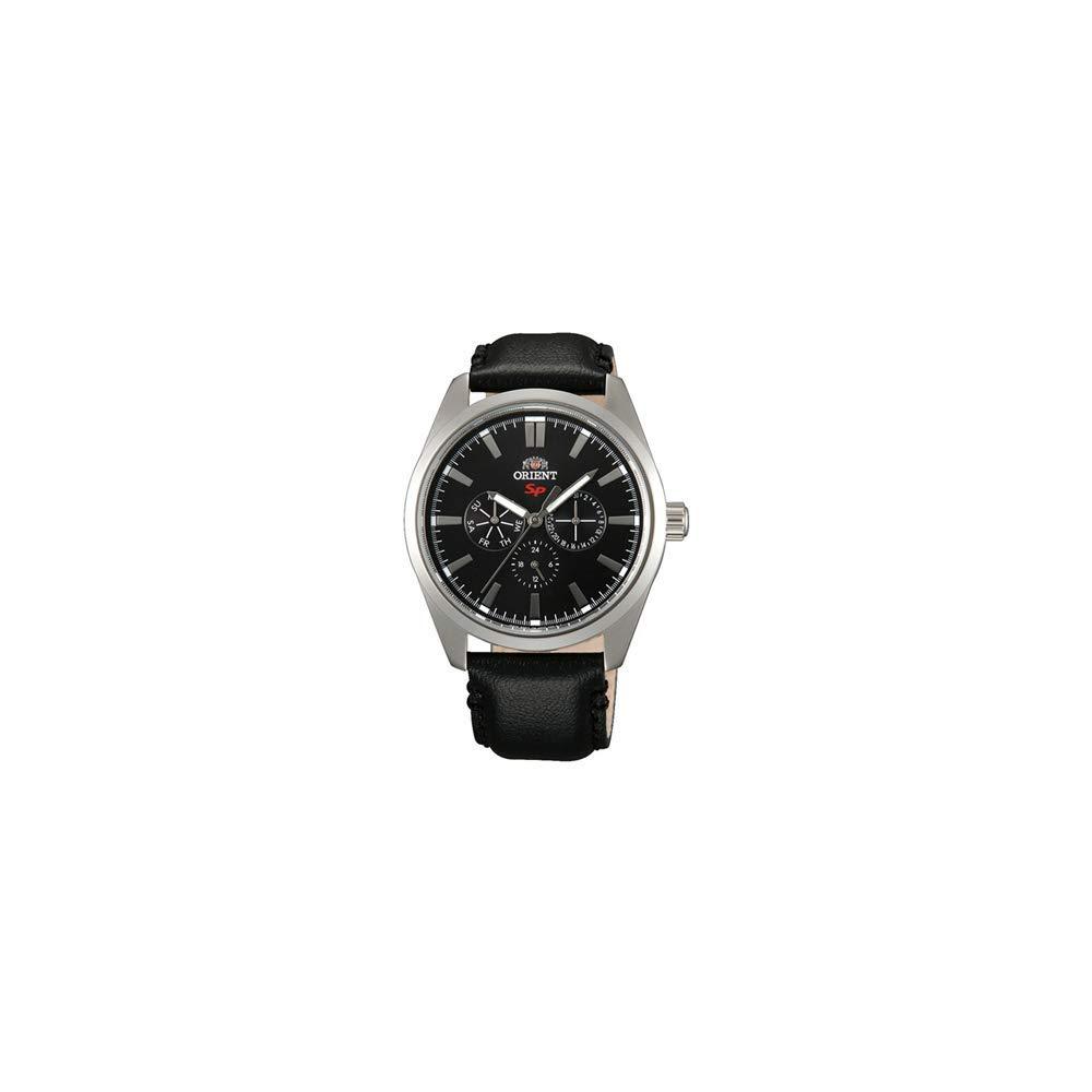 オリエント 腕時計 メンズ 【送料無料】Orient Sport Black Dial Black Leather Men's Watch FUX00006Bオリエント 腕時計 メンズ
