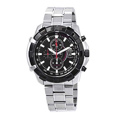 オリエント 腕時計 メンズ 【送料無料】Orient Classic Alarm Chronograph Quartz Black Dial Men's Watch FTD10002Bオリエント 腕時計 メンズ