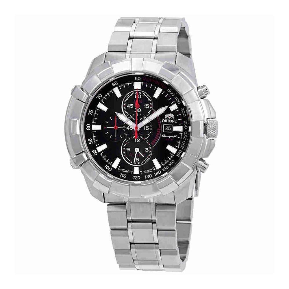 オリエント 腕時計 メンズ Orient Classic Alarm Chronograph Black Dial Mens Watch FTD10004Bオリエント 腕時計 メンズ