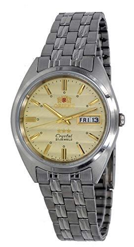 オリエント 腕時計 メンズ 【送料無料】Orient FAB0000DC Men's 3 Star Stainless Steel Gold Dial Day Date Automatic Watchオリエント 腕時計 メンズ