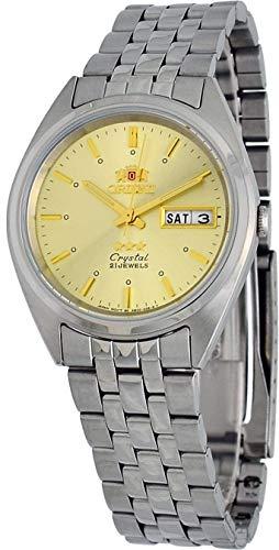 オリエント 腕時計 メンズ 【送料無料】Orient FAB0000AC Men's 3 Star Stainless Steel Day Date Gold Dial Automatic Watchオリエント 腕時計 メンズ
