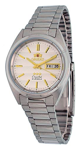 オリエント 腕時計 メンズ 【送料無料】Orient #FAB00007W Men's 3 Star Stainless Steel Silver Dial Day Date Automatic Watchオリエント 腕時計 メンズ
