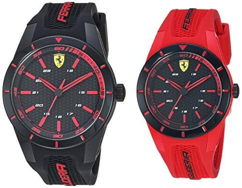 フェラーリ 腕時計 メンズ 【送料無料】Ferrari Men's Red Rev Quartz Watch with Silicone Strap, 25 (Model: 0870019)フェラーリ 腕時計 メンズ